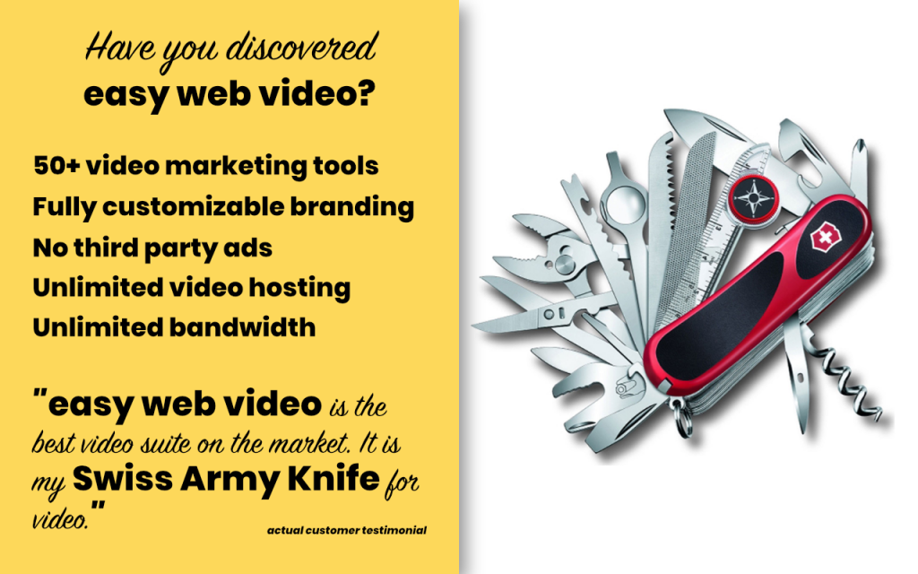 Using Your TV To Shoot A Product Video - Easy Web Video Full Suite Ad